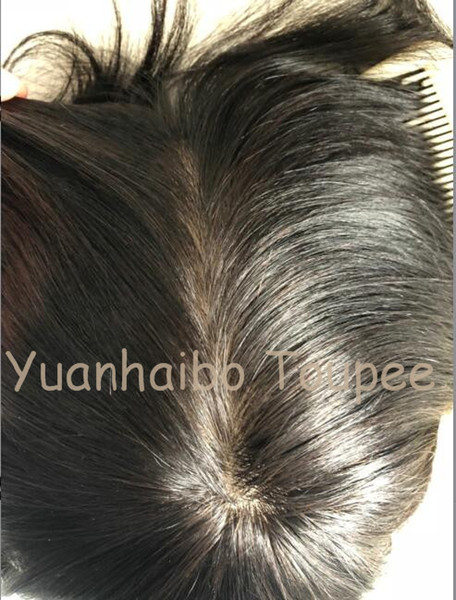 Lace Wig for Black Men Toupee Mens Lace Stockings Full Silk Toupee Invisible Knots Hair Replacement Men Toupee Human Hair Virgin Indian Hair