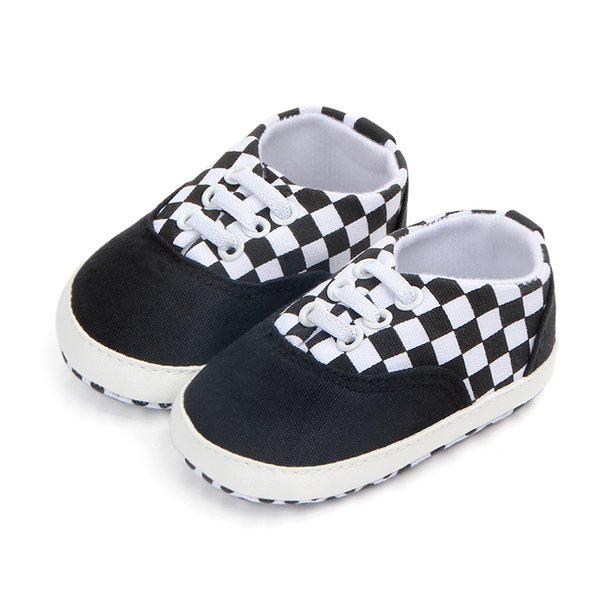Boy's Toddler Shoes Fashionable Canvas Color Stitching Soft Sole Anti-Skid Toddler Shoes