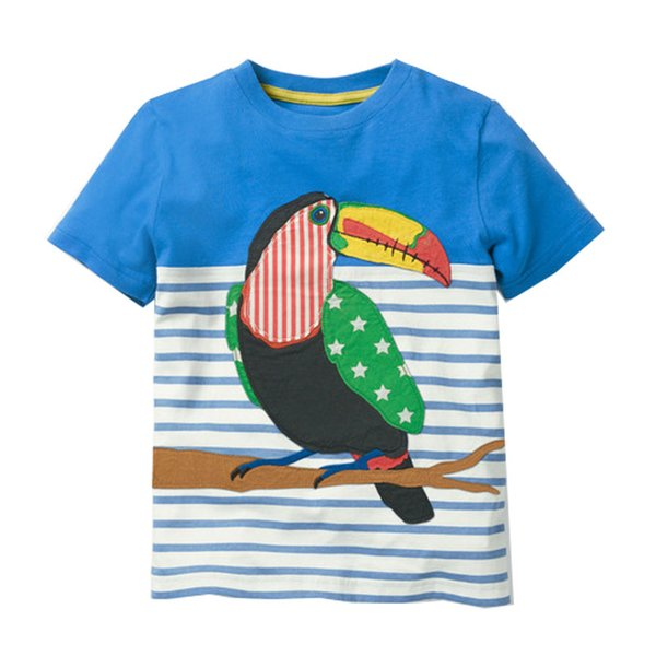 Children T shirt for Boy Clothing 2019 Baby Boy Clothes Summer Tops Kids Tee Shirt Fille Animal Pattern Cotton Boys T-shirts