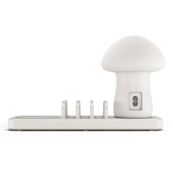 Multipla USB Phone Charger Porte 3 USB lampada del fungo stazione di ricarica con il caricatore senza fili di controllo di qualità 3.0