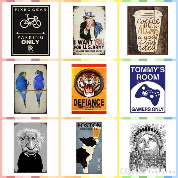 tin home decor.htm 2020 multi size and pattern iron wall poster metal tin signs  wall poster metal tin signs