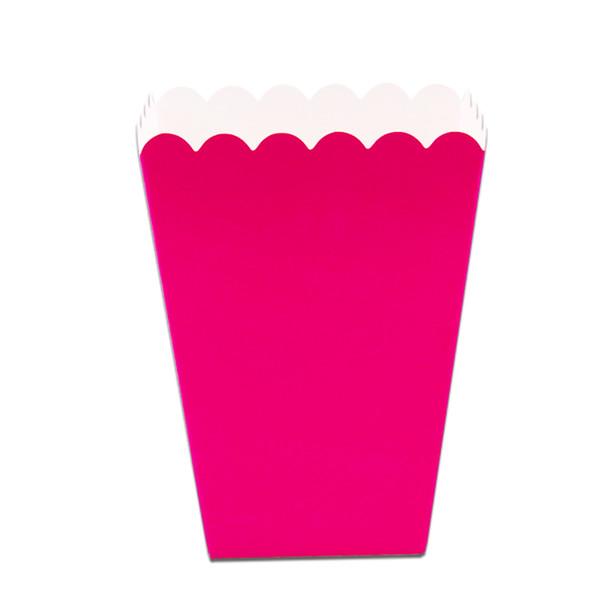 Popcorn Box 6 PCS/lot Pop Baby Shower Mini Chevron Popcorn Box Party Favor DIY Party Favor Pop Corn Pink Rose red blue