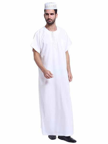 T-shirts à manches courtes en lin musulman