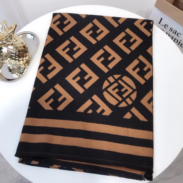 Bufanda de diseño de lujo de alta gama, último diseño de palabra F, bufanda con estampado de cachemira, bufanda de cachemira de moda para hombres y mujeres
