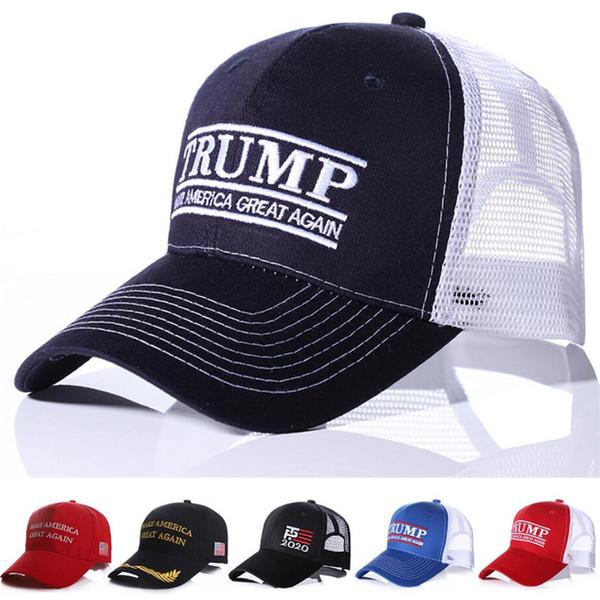 best selling 2020 Trump Embroidery Ball Cap Make America Great Again Baseball Caps Trucker Sun Hats Sports Men Women Mesh Visor Snapbacks A41205