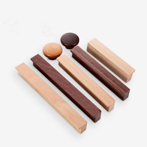 best selling Wooden Kitchen Cabinet Knobs Handles Vintage Style Drawer Wardrobe Cupboard Door Funriture Knobs Pulls Handle In Stock