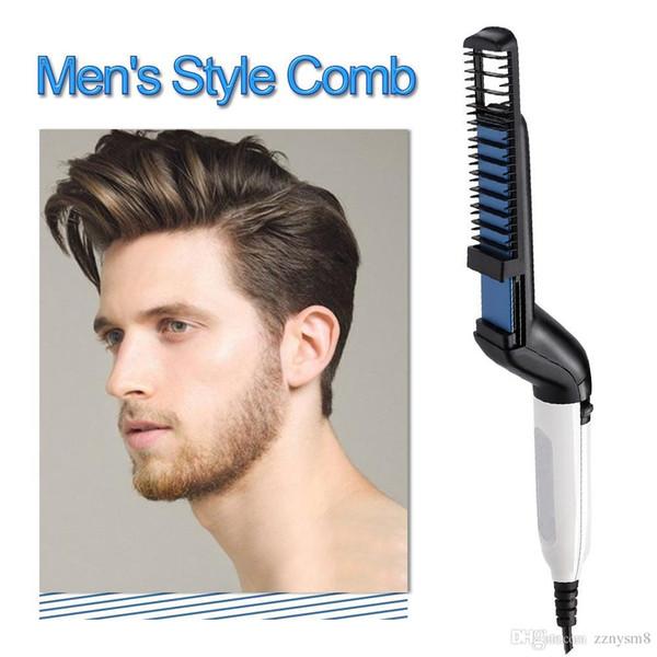 Multifunctional Men's Hair Straightening Shaping Comb Electric Beard Straightening Comb Auto Straight Hair Comb Brush W002