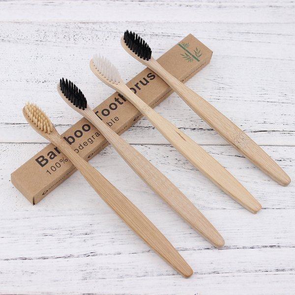 best selling Wooden Toothbrush Environmental Protection Natural Bamboo Toothbrush Oral Care Soft Bristle For Home or hotel With Box Free Shipping