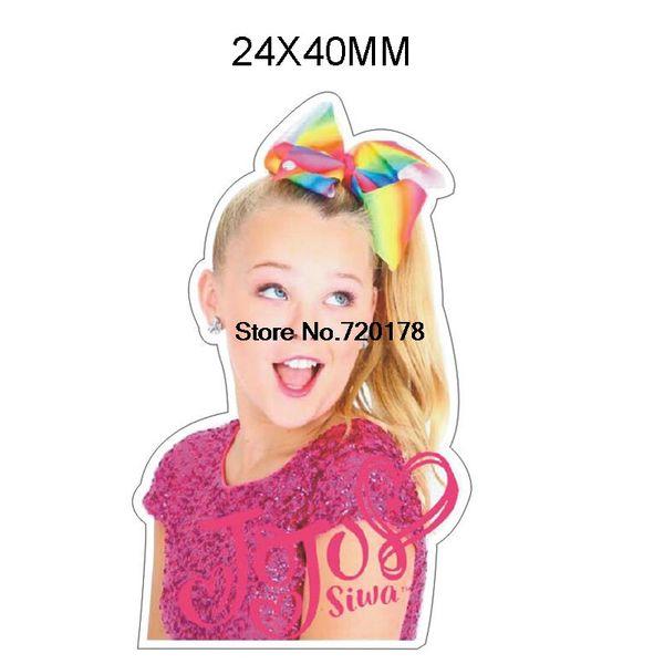 30pcs/50pcs cartoon girl plastic flat back planar resin DIY Craft Supplies 1.2inch JOR67