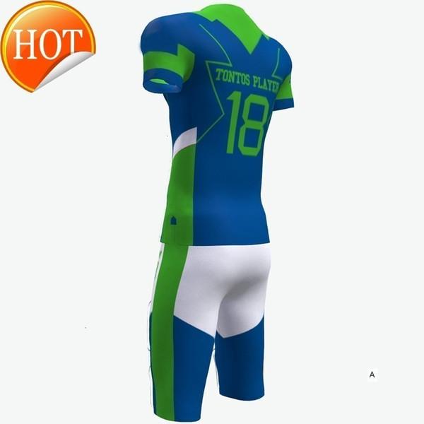 2019 Mens New Football Jerseys Fashion Style Black Green Sport Printed Name Number S-XXXL Home Road Shirt AFJ0040AA1B1