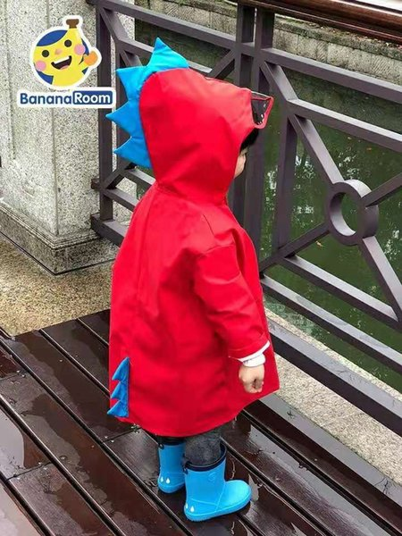 Red Dinosaur Raincoat