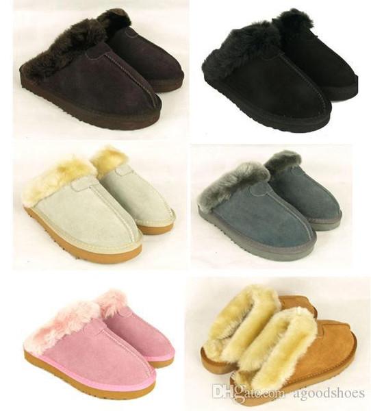 Sıcak Sıcak pamuk terlik Erkekler Ve Bayan terlik Kısa Çizme Bayan çizmeler Kar botları Marka Tasarımcısı Kapalı pamuk terlik Deri çizmeler # 28