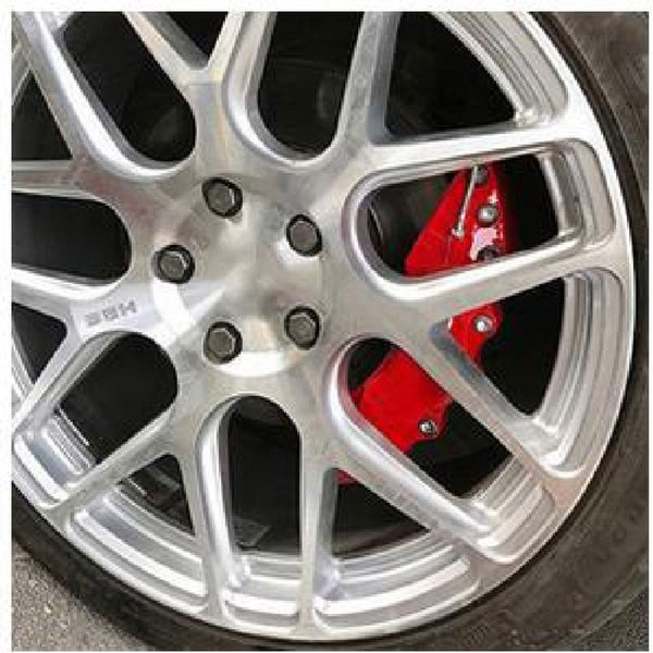 top popular 2PCS Fit For Car Wheel Brake Caliper Cover Front Rear Dust Resist 2021