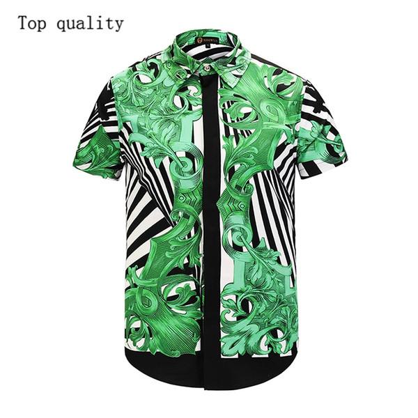 2019 high quality fashion beach men casual business tops shirt summer holiday short sleeve 3d printed hawaii cheap men's tops shirts