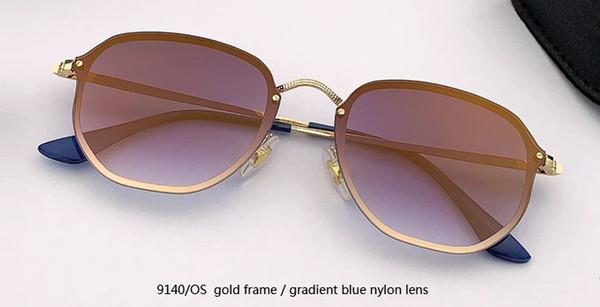 9140 / OS gold / градиентное синее зеркало