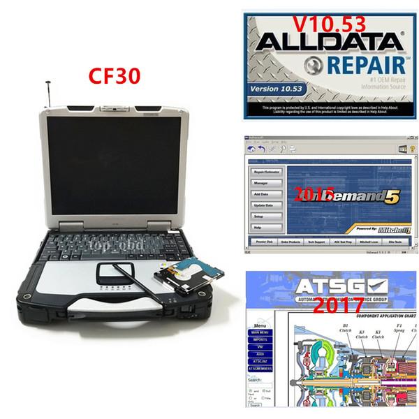 Диагностический ноутбук CF30 новейший Alldata v10.53 Mitchell 2015 и ATSG 2017 3 в 1 ТБ HDD полный набор на ноутбуке cf30 4 ГБ