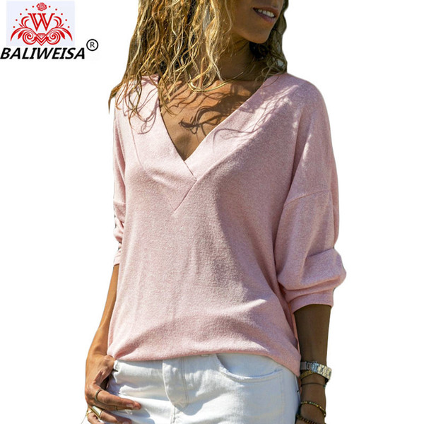 Women Blouses Casual V-Neck Knitted Shirt 2019 Spring Long Sleeve Tops and Blouses Female Elegant Loose Tops Tunic Camisas Mujer