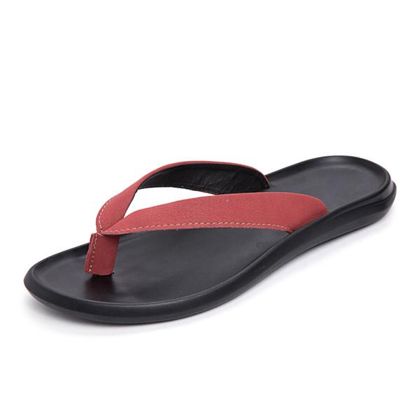 Flip Flops 2019 New Slippers Men's Summer Anti-skid Men's Feet Beach Shoes Rubber Men Sandals Top Quality Indoor & Outdoor