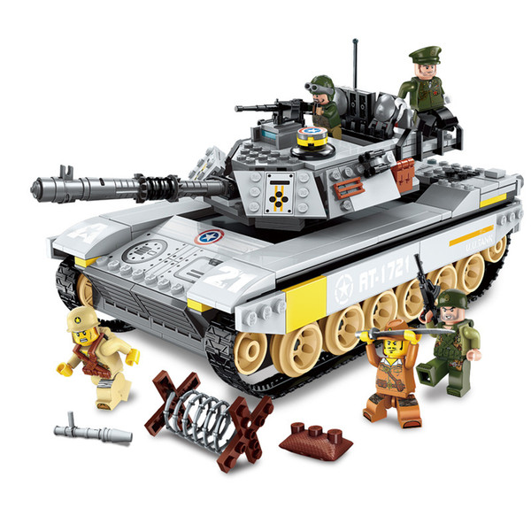 482pcs Battlefield Series Children's Toy Gift Boy Military Model Building Blocks Compatible City Overlord Tank Dispatch MX190731