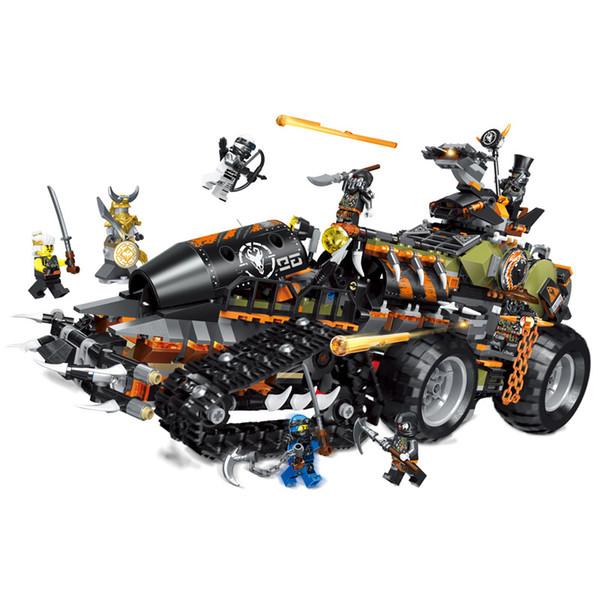 1236 unids Heavy Ninja Catching dinosaur truck Compatible Legoings Ninjagodes Bloques de construcción educativos para niños regalos de juguete