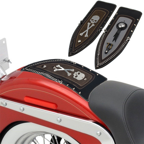 Motorycle Skull Leather Plain Rear Fender Bib For 04-16 Sportster XL883 Solo Seat