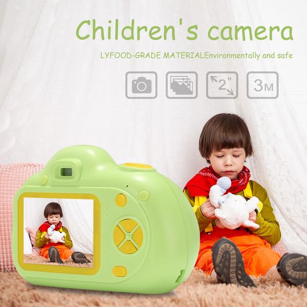 2 Pouce Écran Chargeable Numérique Mini Caméra Enfants Bande Dessinée Mignon Caméra Jouets Accessoires de Photographie En Plein Air pour Enfant Cadeau D'anniversaire