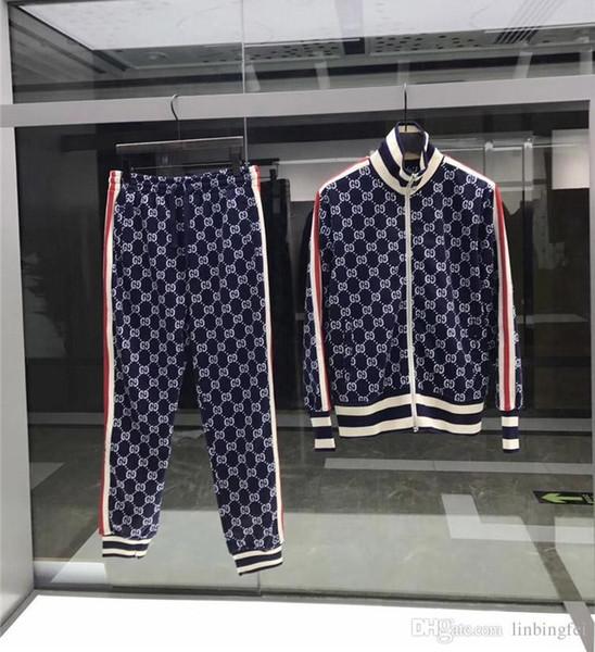 2019 erkek Eşofman Sweatshirt Takım Elbise Lüks Spor Takım Elbise Erkek Hoodies Ceketler Coat Erkek Medusa Spor Kazak Eşofman Ceket setleri