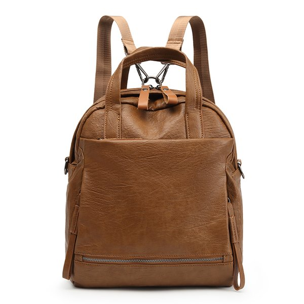 New PU Leather Women Backpack Casual School Shoulder Bags For Teenager Girl Large Capacity Multifunction Backpacks