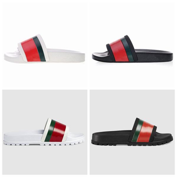 Top Quality Designer de Luxo Chinelos Engrenagem Fundo Grosso Homens Preto Branco Praia Slides Moda Scuffs Sandálias Sapatos Ao Ar Livre Indoor Tamanho 38-45