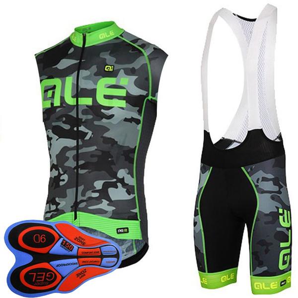2019 ALE takım Bisiklet Kolsuz forması Yelek 9D önlüğü şort set erkekler yaz nefes Hızlı Kuru bikeriding dağ bisiklet giysileri K082609