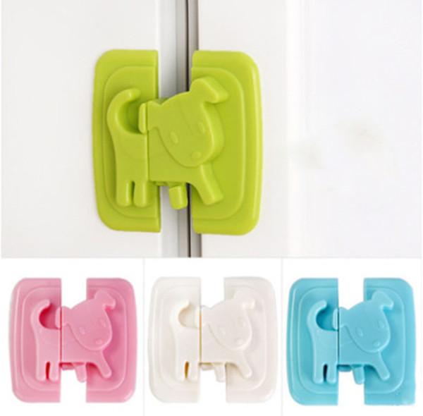 Fournitures de sécurité pour enfants dessin animé chien multi-fonction bébé sécurité serrure de réfrigérateur serrure de réfrigérateur armoire plate serrure de porte C6005