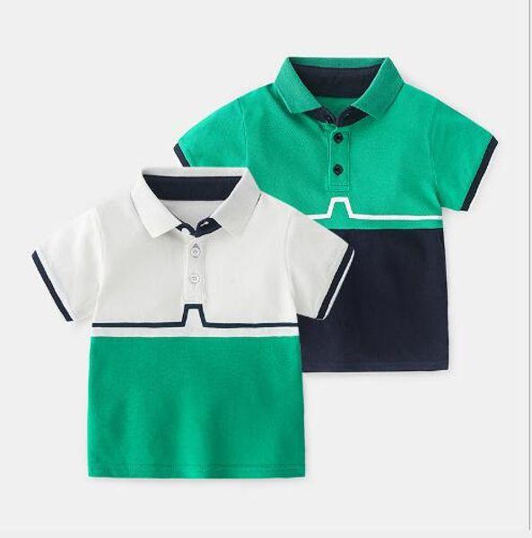 top popular 2020 best selling baby short sleeve T-shirt summer children's Polo Shirt Summer Boys' pure cotton half sleeve color matching summer top 2021