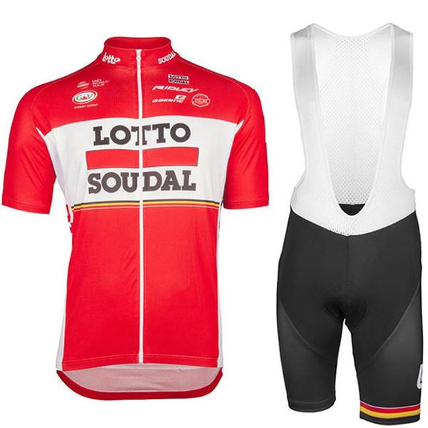 Lotto 2019 novo pro team ciclismo clothing homens set verão mtb clothing respirável quick dry manga curta calças jardineiras terno ciclismo hombre