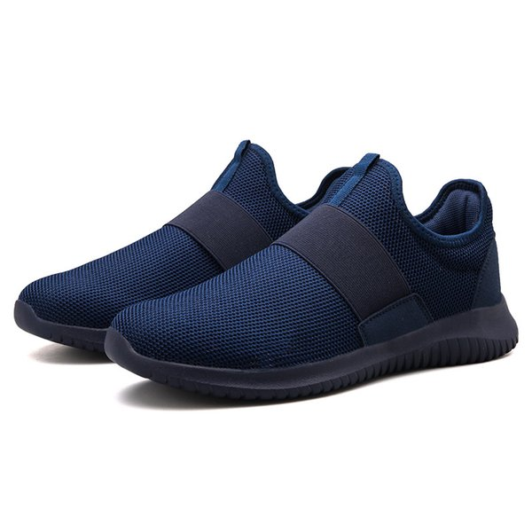 114m Autumn news Korean fashion campus student youth mesh men\'s shoes lazy sets of feet breathable large size men\'s casual shoes