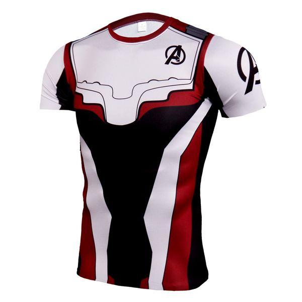 Avenger 4 Cosplay T-shirt Super Hommes 3D Imprimé Nouveau À Manches Courtes Fitness Running Sport Shirt Hommes Rashgard Gym Tops Tees Vêtements Costumes