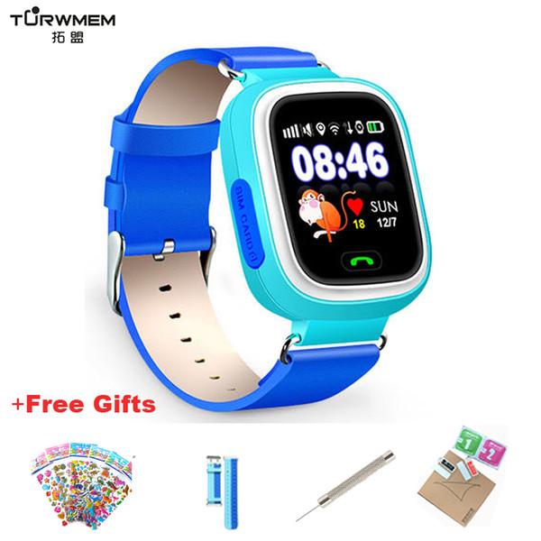 Q90 GPS Kind Smart Watch Baby Anti-verlorene Uhren SOS Anruf Ort Geräteverfolger für Kinder Sichere Monitor