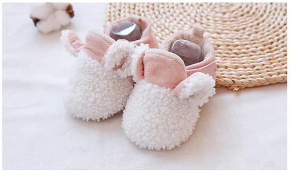 animal lapin blanc Ins nouvelle arrivée bébé hiver nouvelle année chaussures nouveaux articles garçon chaussures pu beau brun gris et noir taille: 10.5 11.5 12.5 cm