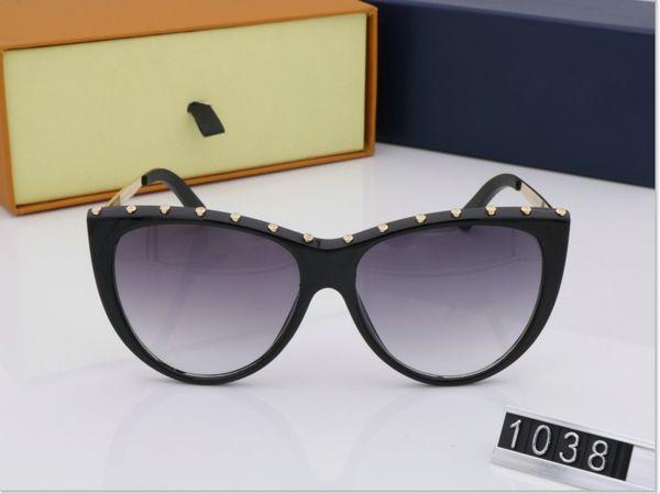 New Luxury Mulheres Homens Óculos De Sol de Moda Full Frame Senhoras Retro Vintage Designer de Marca Oversized Feminino Lazer Óculos de Sol Maré VV1038