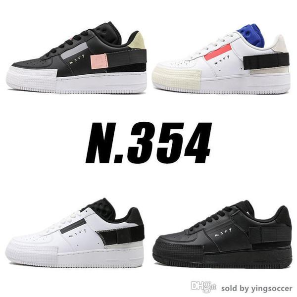 Принудительный 1 Низкий N.354 х ТИП Скейтборд обувь Мода обувь Новые кроссовки Skate Man Женщины Tranier