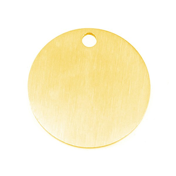 Matte Inner Loop Round Disc Disk Personalized Print Charms Both Sides Brush Polished Stainless Steel Blank Pendant 50pcs