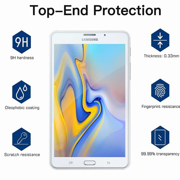Samsung Tablet Tempered Glass Screen Protector For Galaxy Tab A 7 T285 Rounded Edge Tempered Glass Film