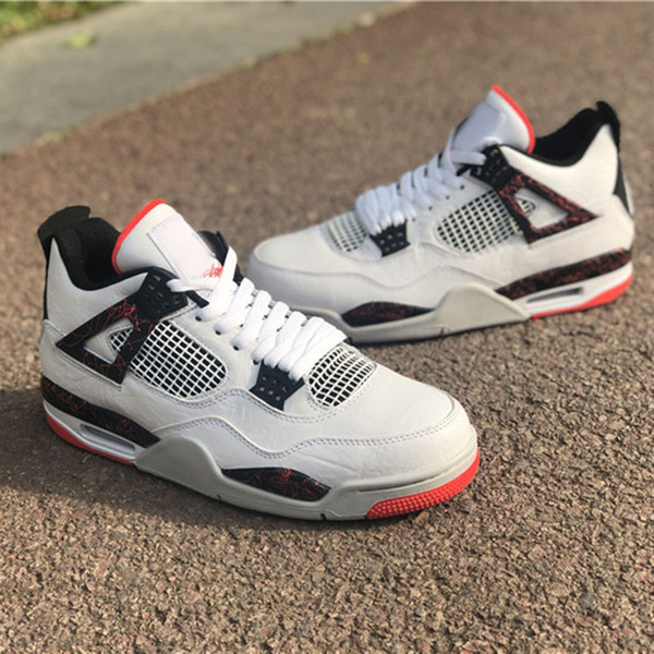 c20e9b75b630 2019 Wholesale New 4 IV FIRE red men basketball shoes MALE 4s sports  designer sneakers outdoor