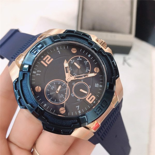 New Designer Watch Men Watches Blue Automatic Mechanical Watch Rubber Strap 100 Meter Waterproof High Quality Wristwatch free shipping