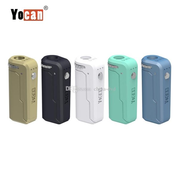 Yocan UNI Box Mod With 650mah Voltage Adjustable Ecigs Battery For Magnetic 510 thread Vaporizer Atomizer 100% Authentic