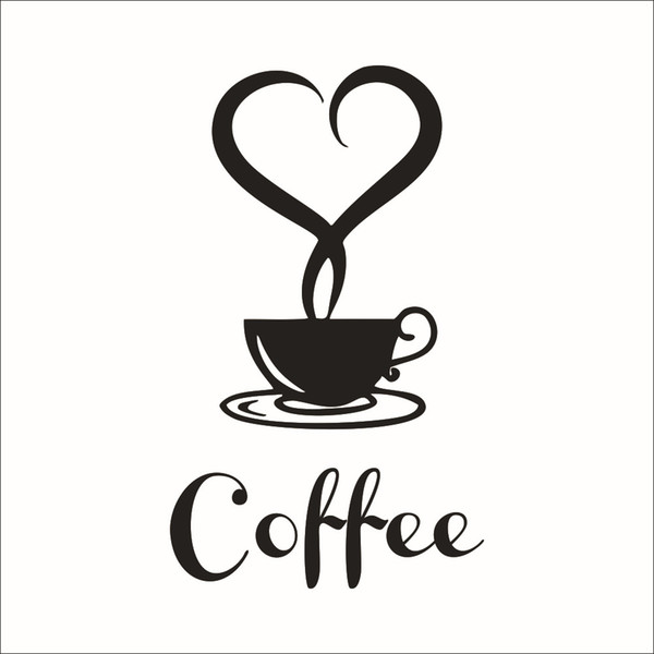 Decorate Home coffee cartoon art wall sticker decoration Decals mural painting Removable Decor Wallpaper G-1872