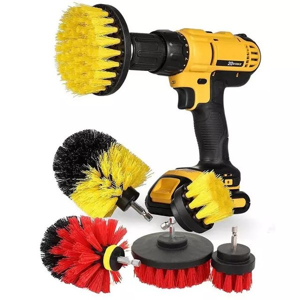 3pcs/Lot Electric Drill Brush Head For Floor Kitchen Tire Tub 6 Colors Bathroom Clean Brushes Floor Power Clean Tool 2 Lots ePacket