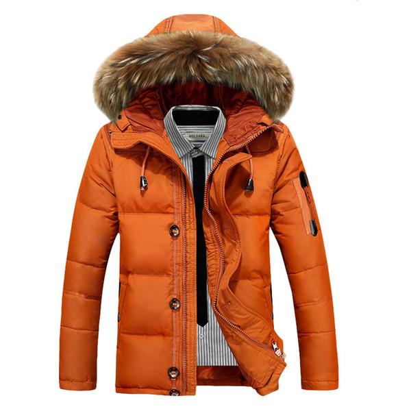 Uomo Giacche invernali cappotti spessore caldo parka soprabito bianco anatra Piumino maschile Windbreaker Piumini