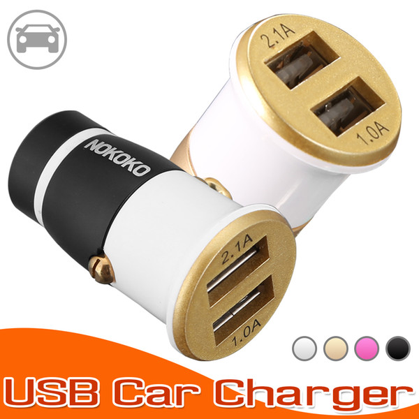 Universal NOKOKO USB Car Charger Cell Phone Charger Portable Power Adapter 5V 2.1A Adapter for IOS and Android Cellphones