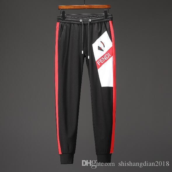 2019 pantaloni da uomo moda casual pantaloni sportivi pantaloni cuciture lettere stampate cotone stringa super confortevole jogger