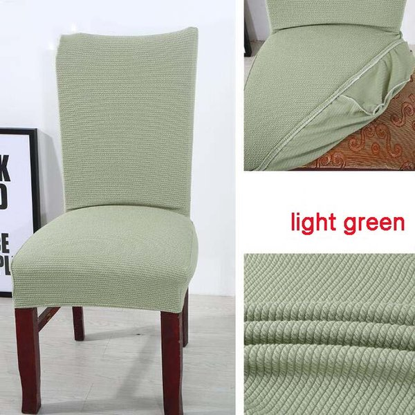 Miraculous Elastic Knitted Fabric Dining Chair Covers Solid Color Stretch Seat Cover Washable Dining Chair Protector Slipcover For Hotel Banquet Slipcovers For Caraccident5 Cool Chair Designs And Ideas Caraccident5Info